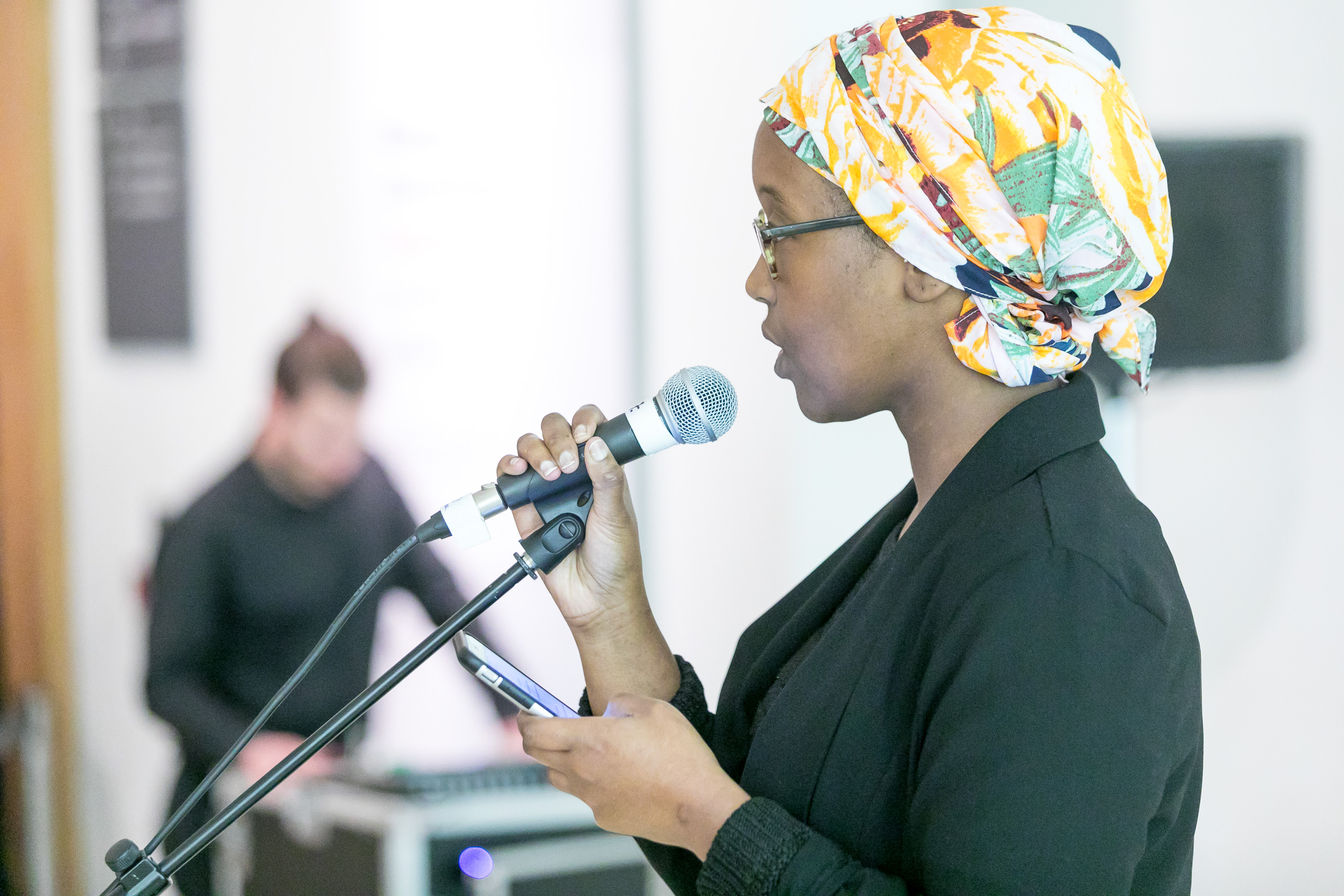 Throughout the day poet Hamdi Khalif performed her own poetry for museum visitors. Already an established performer Hamdi brought some of her own fans to the Museum and drew on a range of inspirations from personal memories, contemporary affairs and themes of identity.