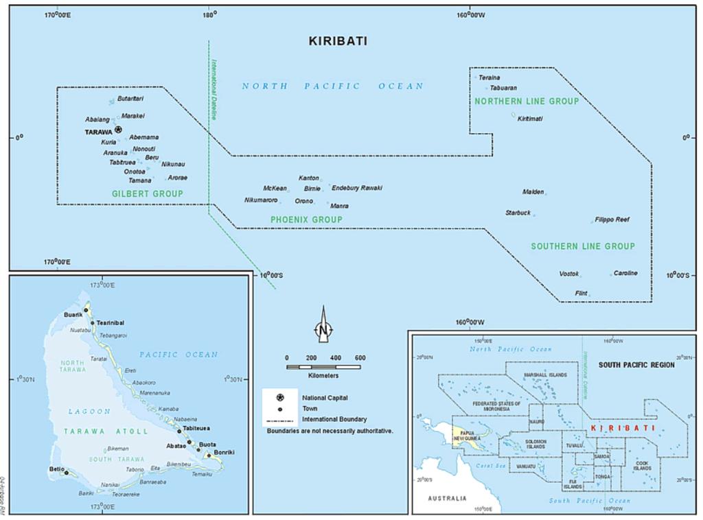 Kiribati Object Journeys A Collaborative Project Object Journeys - Kiribati map