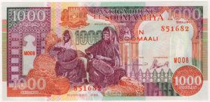 Somali 1000 Shilling note